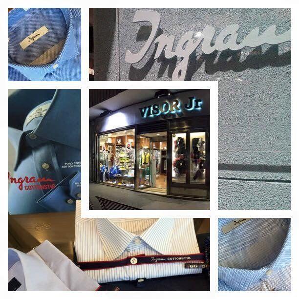 collage di fotografie con marchio Ingram e insegna Visor Jr