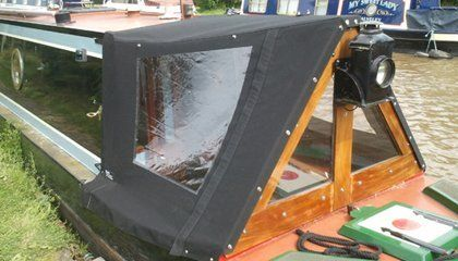 Cratch boards & NarrowBoat wide beam boat covers. UK
