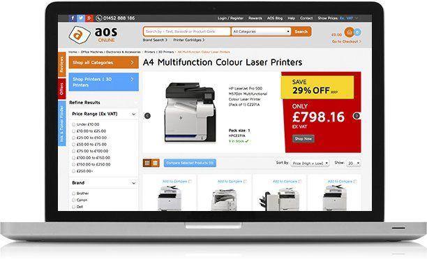 aos online website inventory on Macbook