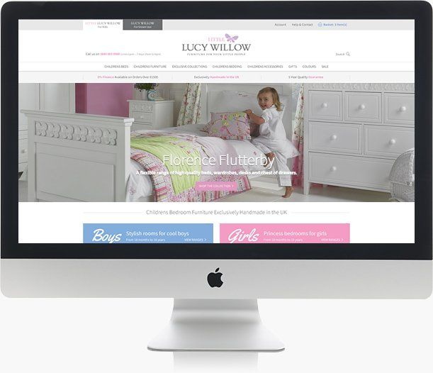 Stunning designs Lucy Willow website on iMac