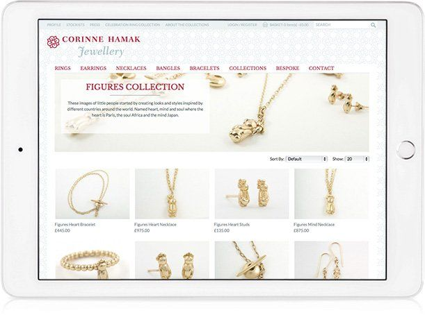 Website design on iPad Landscape