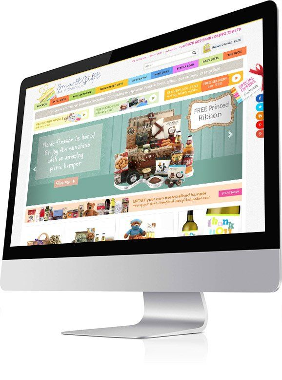 smart gift solutions website on iMac