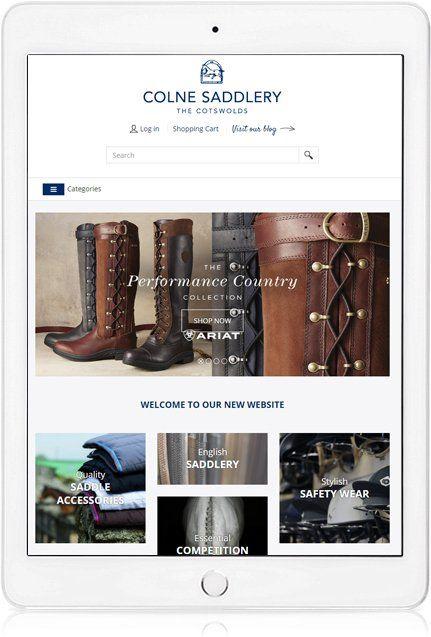 Website Design on iPad