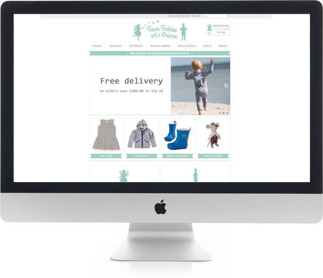 Stunning design website on iMac