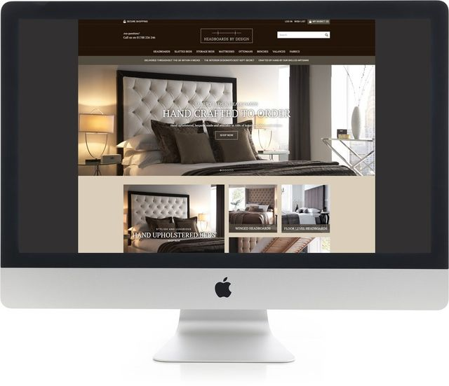 Stunning design website on iMac
