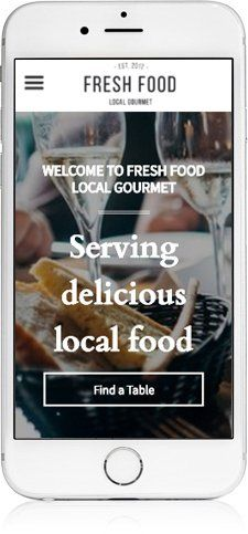 Restaurant Website Design on iPhone