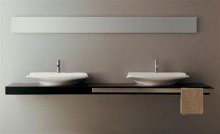 Due lavandini con forma di piatto