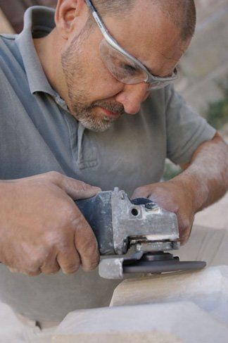 church restorations - southampton, hampshire - allstone stonemasons - stonemason at work