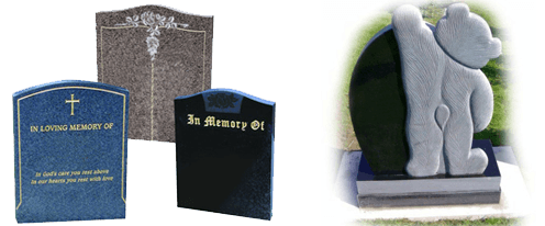 memorials - southampton, hampshire - allstone stonemasons - selection of memorials