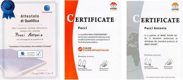 certificati da elettricista