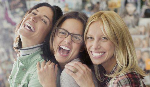 3 girls laughing