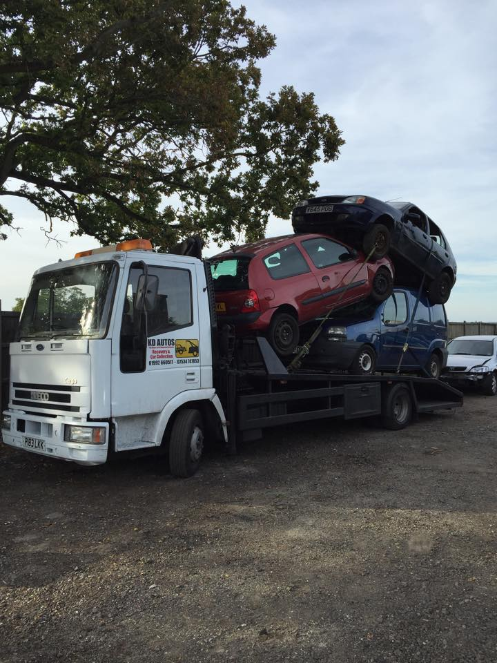Kdauto\'s break down recovery scrap car collection