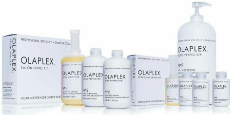 a selection of olapex salon products