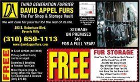 Fur Storage And Fur Cleaning Fur Repair Fur Restoration
