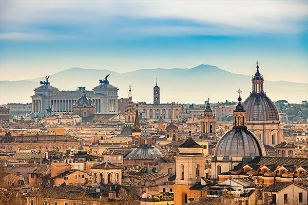 veduta di roma da Castel Sant'Angelo