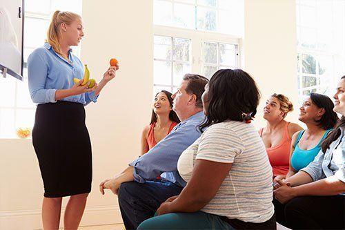People attending diet club