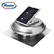Master Flow Green Machine Solar-Powered EcoSmart Roof Vent, installed by King Quality Construction