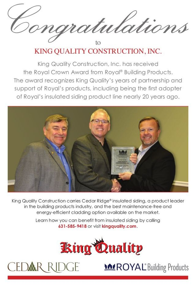 royal crown award from royal building products