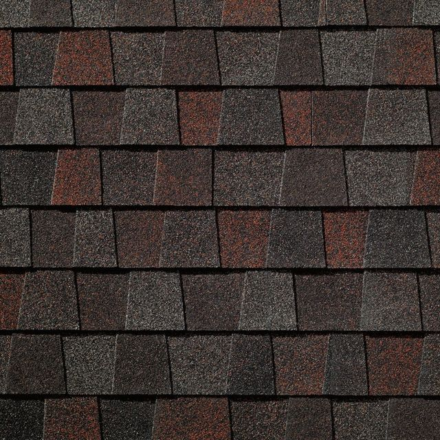 King Quality Construction installs Timberline American Harvest Midnight Blush shingles