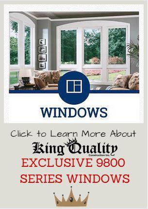 Simonton 9800 Windows, exclusive to King Quality Construction