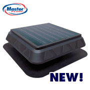 Master Flow Green Machine Solar Roof Vent, installed by King Quality Construction