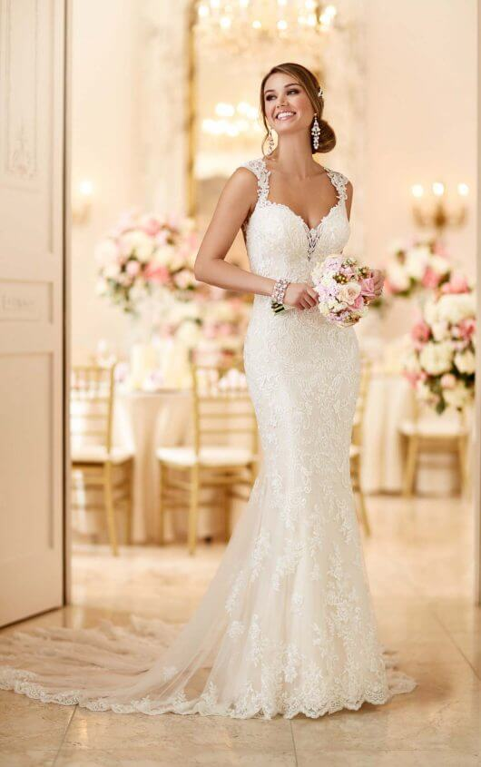 fc358c96 Romantic Lace Wedding Dress front view available from isobel florence bridal  dalbeattie