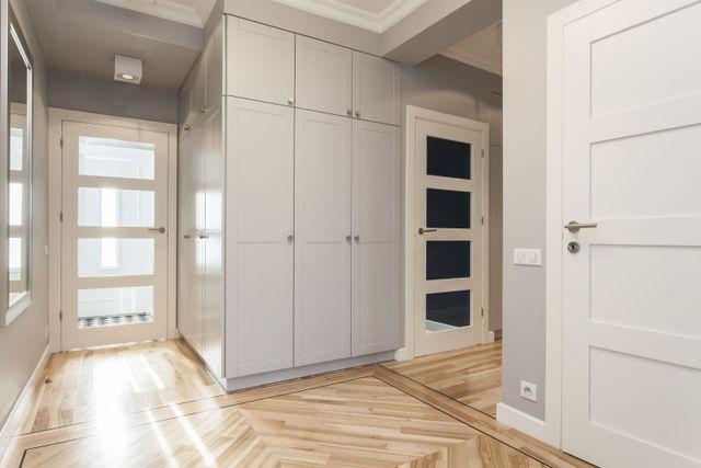 Wooden cupboards and doors