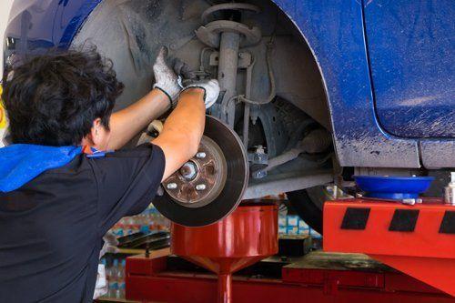 riparazione asse ruote