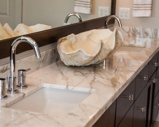 granite bathroom countertop