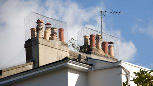 rooftop chimney installation