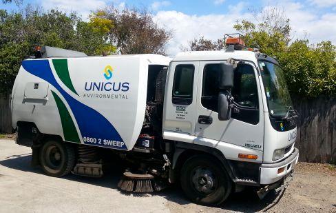 Road sweeper in Waikato