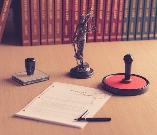 timbro in cera documenti statua della giustizia