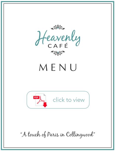 Heavenly Cafe - Menu
