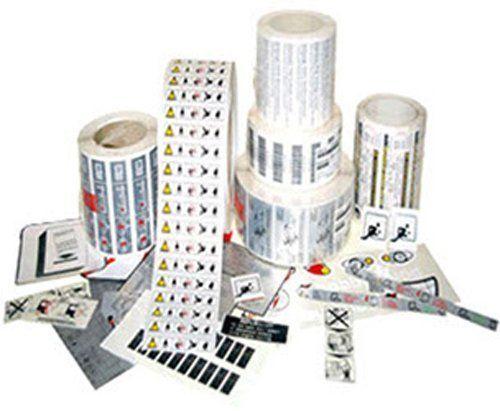 rotoli con etichette adesive