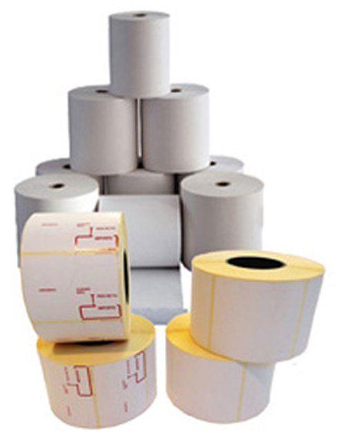 pila di rotoli per etichette