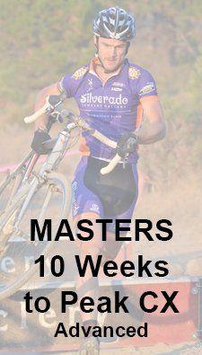 cyclocross training plan - 10 weeks to masters peak CX advanced