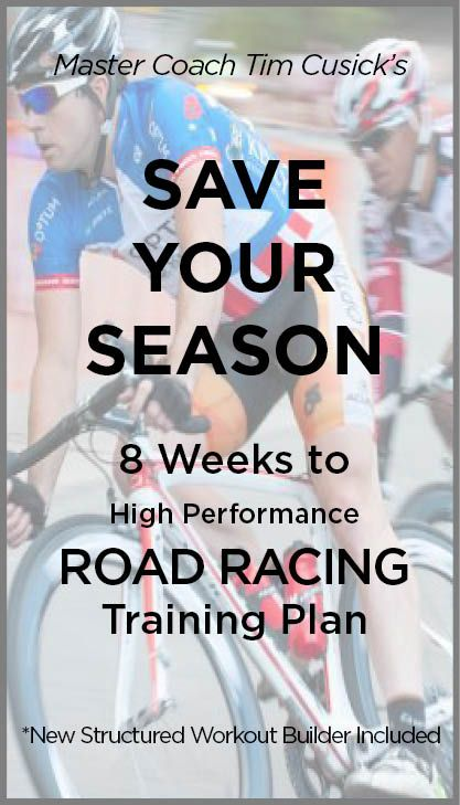 Save Your Season road cycling training plans