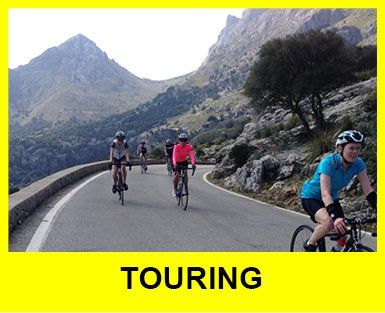 Cyclists riding in Spain touring level rides