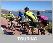 cyclists riding in Mallorca Spain touring level rides