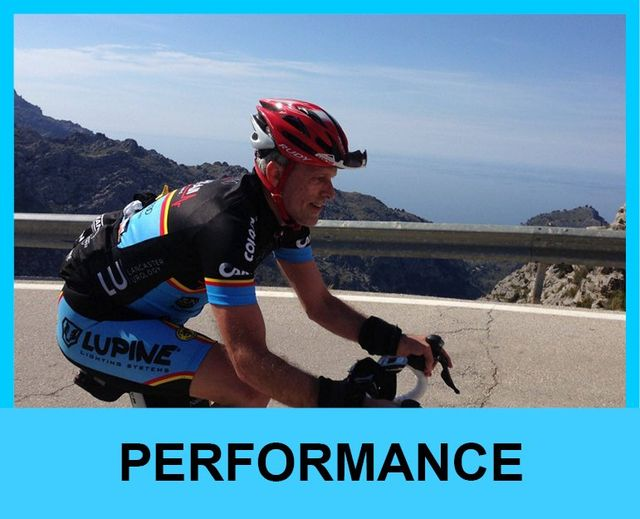 Cyclist in Spain performance level rides