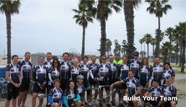 Cycling team picture at cycling camp