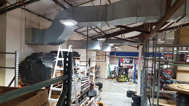 Lighting system in aworkshop