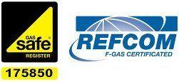 Gas Safe and REFCOM logos