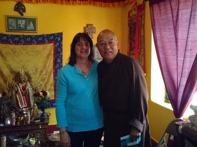 Vesna Matic in a transformational travel experience meeting a buddhist monk