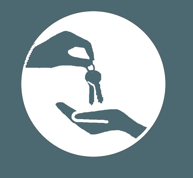 icona di mani con chiave