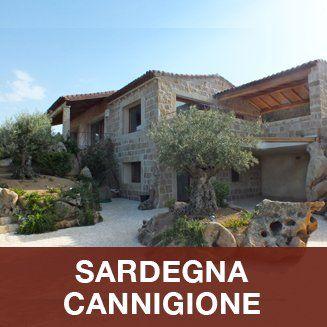 case con alberi in Sardegna