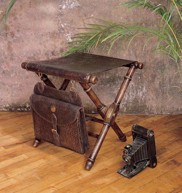 Superb Kenya Camp Stool And Saddlebag Ibusinesslaw Wood Chair Design Ideas Ibusinesslaworg