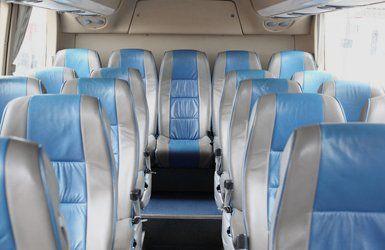 comfortable minibus seats