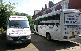 parked minibuses