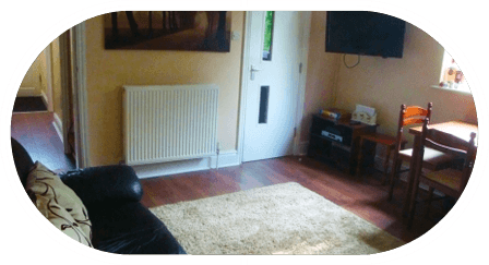 house with central heating